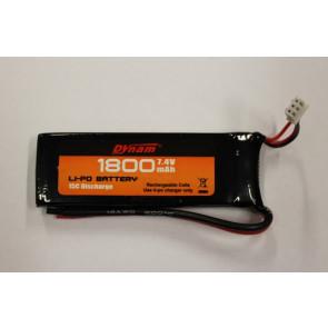 7.4V 1800mAH LiPo Battery Pack for Dynam Sonic 185 Glider