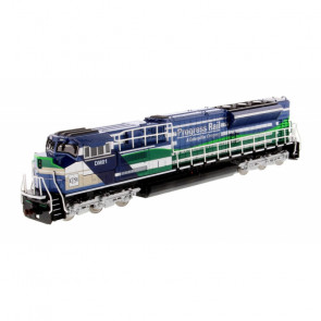 1:87 EMD SD70ACe-T4 Locomotive - Blue and Green, Diecast Scale Construction Vehicle