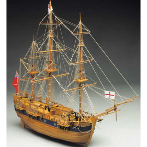Mantua HM Endeavour Bark 1768 Scale 1:60 Wooden Kit - Captain James Cook's Famous Ship!