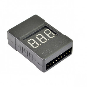 Etronix 1-8s Lipo Battery Cased Voltage Meter W/Alarm