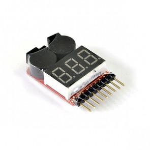 Etronix 1-8s Lipo Battery Voltage Meter W/Alarm