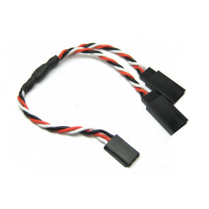 Futaba Twisted Y Extension Cable Lead - High Quality 22AWG Wire