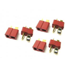 Etronix Deans Plug Gold Plated Connectors 3 Male & 3 Female ET0791