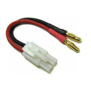 Etronix Male Tamiya to Two 4.00mm Male Gold Bullet Connectors Adaptor Cable ET0838