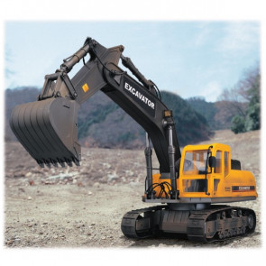 Large Scale 10 Function Radio Control Caterpillar Excavator with Lights - Hobby Engine