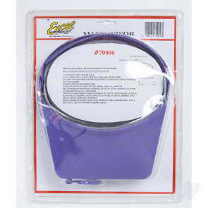 Excel Excel Blades MagniVisor Deluxe Head-Worn Magnifier with 4 Different Lenses, Purple (Boxed)