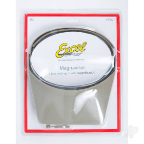 Excel Excel Blades MagniVisor Deluxe Head-Worn Magnifier with 4 Different Lenses , Grey (Boxed)