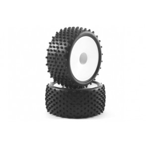 Fastrax 'Stub' 1/10th Buggy Rear Tyres Pre-Mounted on Dish Wheels (2) FAST0047