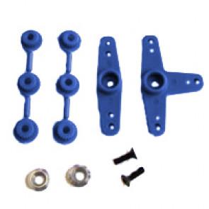 Fastrax Super Servo Horn 2 Blue
