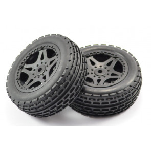 Pair of Front Mounted Wheels with Tyres for FTX Surge Buggy