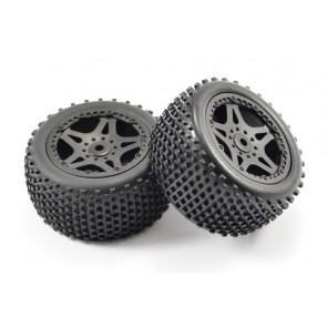 Pair of Rear Mounted Wheels with Tyres for FTX Surge Buggy