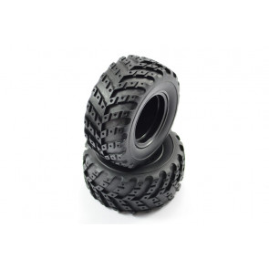 Pair of Mounted Wheels with Tyres for FTX Surge Monster Truck