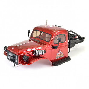 FTX Outback Texan 1/10 Rock Crawer Cab Body with Rollcage - Red