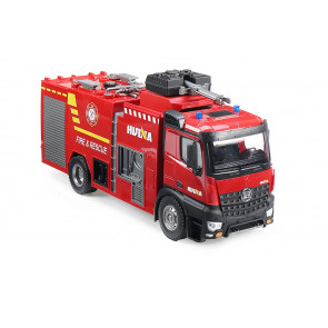 Huina 1:14 RC Fire Engine Truck - Working Lights, Sound & Water Cannon!