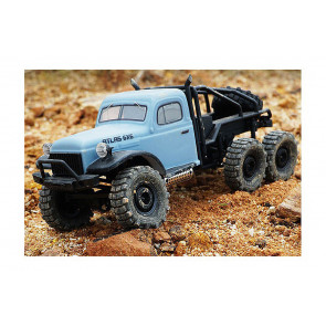 RocHobby 1/18 Atlas 6x6 RTR RC Rock Crawler Truck - Blue