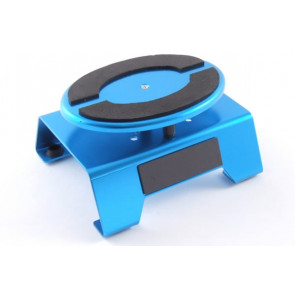 Blue Aluminium Locking Rotating Car Maintenance Pit Stand with Magnetic Strips