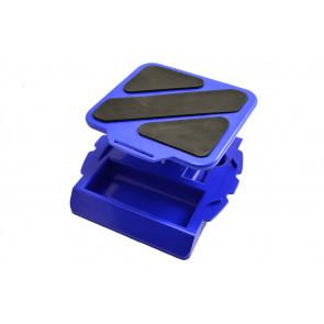Rotating Car Maintenance Pit Stand with Tray for RC Cars - Various Colours