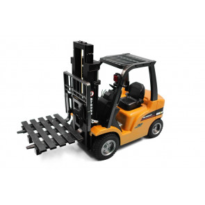 Large 8 Channel RC Fork Lift Truck with Metal Frame, Cab & Wheels, Lights & Sound