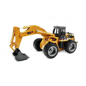 1/18th Scale 6 Channel RC Excavator with Metal Bucket & Lights