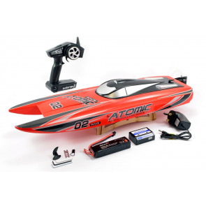 Volantex Racent Atomic 70cm Brushless Racing Speed Boat ARTR Red no Bat/Chg