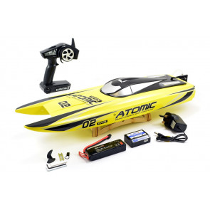 Volantex Racent Atomic 70cm Brushless Racing Speed Boat ARTR Yellow no Bat/Chg