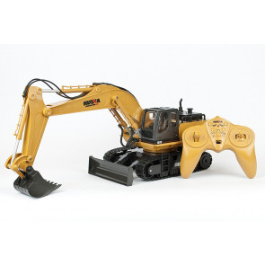 HUINA 1:16 RC Excavator - Full 11 Channel Function and metal bucket!