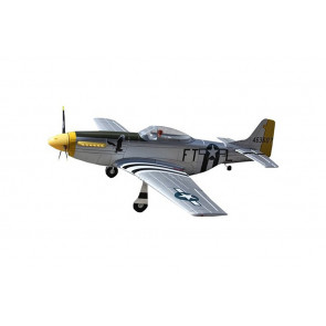 Dynam P51D Mustang Silver 1200mm Warbird with Retracts no Tx/Rx/Bat