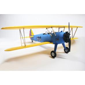 Dynam Boeing PT-17 Stearman 1300MM ARTF (no Tx/Rx/Batt) - Blue