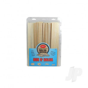 Guillow Box O'Balsa, Large (random sizes, 3 lb box) For Balsa Model Aircraft