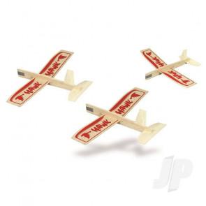 Guillow Hawk Three Pack Balsa Model Aircraft Kit