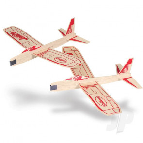 Guillow Jetfire Twin Pack Balsa Model Aircraft Kit
