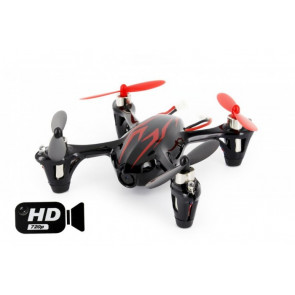 Hubsan X4 Quadcopter RTF with HD 2MP Camera, Mode 1 Transmitter - Black/Red