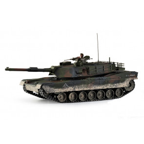 Large Scale RC M1A1 Abrams Tank Forest Camo Upgraded Premium Label Version - Hobby Engine