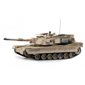 Large Scale RC M1A2 Abrams Tank  Desert Camo Upgraded Premium Label Version - Hobby Engine