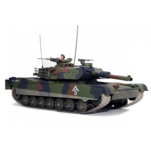 Large Scale RC M1A1 Abrams Tank Forest Camo, Lights, Sound, Shoots - Hobby Engine