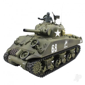 Henglong 1:16 US M4A3 Sherman with Infrared Battle System (2.4GHz + Shooter + Smoke + Sound)