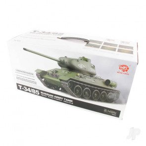 Henglong 1:16 Russian T-34/85 1944 Tank with Infrared Battle System (2.4GHz + Shooter + Smoke + Sound)