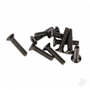 Helion M3 Countersunk Screws Black (3x14mm) Allen Head 10 pcs