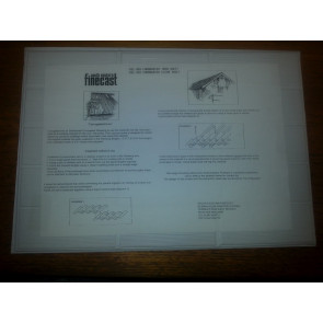 South Eastern Finecast FBS409 Corrugated Iron White Plastic Sheet Plasticard 00 Model Railway Warhammer
