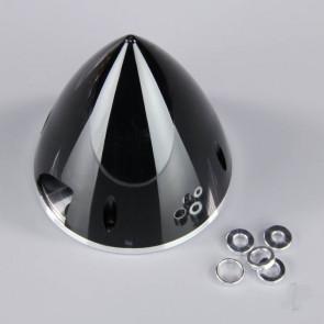 JP 89mm Black Spinner (with Aluminium Back Plate) For RC Model Plane