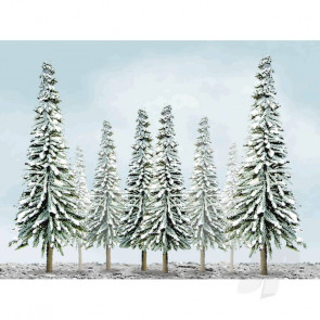 """JTT 92005 Scenic-Snow Pine, 1"""" to 2"""", Z-Scale, (55 pack) Trees For Scenic Diorama Model Trains"""