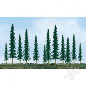"""JTT 92009 Scenic-Conifer, 1"""" to 2"""", Z-Scale, (55 pack) Trees For Scenic Diorama Model Trains"""