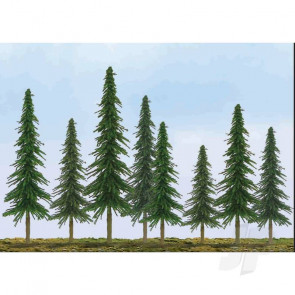 """JTT 92025 Econo-Spruce, 1"""" to 2"""", Z-Scale, (55 pack) Trees For Scenic Diorama Model Trains"""