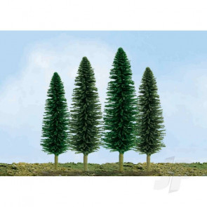 """JTT 92030 Econo-Cedar, 2"""" to 4"""", N-Scale, (36 pack) Trees For Scenic Diorama Model Trains"""