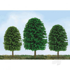 "JTT 92035 Scenic-Tree, 3"" to 4"", HO-Scale, (24 pack) Trees For Scenic Diorama Model Trains"