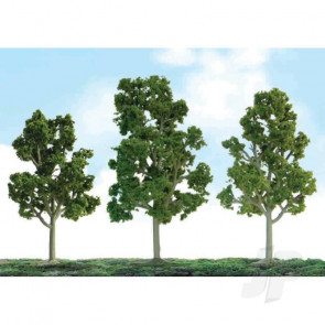 "JTT 92101 Scenic Sycamore, 2.5"" to 3.5"", N-Scale, (8 pack) Trees For Scenic Diorama Model Trains"