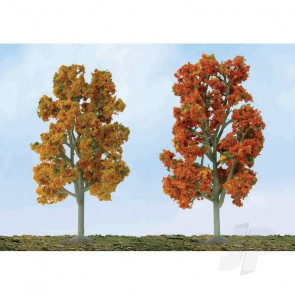 "JTT 92105 Scenic Fall Sycamore, 5"" to 5.5"", HO-Scale, (3 pack) Trees For Scenic Diorama Model Trains"