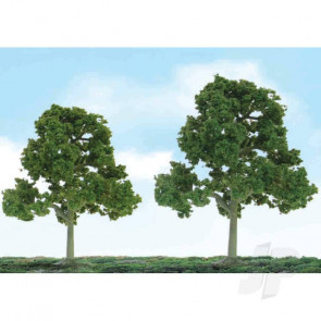 "JTT 92109 Scenic Deciduous, 5.5"" to 6"", O-Scale, (2 pack) Trees For Scenic Diorama Model Trains"