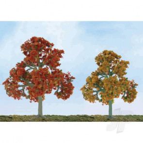 "JTT 92112 Scenic Fall Deciduous, 5.5"" to 6"", O-Scale, (2 pack) Trees For Scenic Diorama Model Trains"