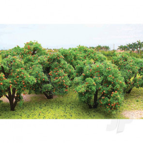 "JTT 92121 Orange Tree Grove, 2"" to 2-1/4"" Tall, (6 pack) For Scenic Diorama Model Trains"